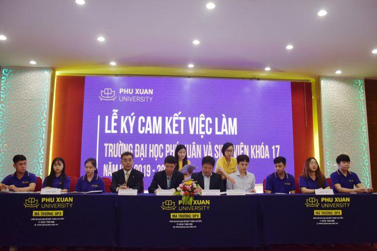 Đại học Phú Xuân cam kết việc làm