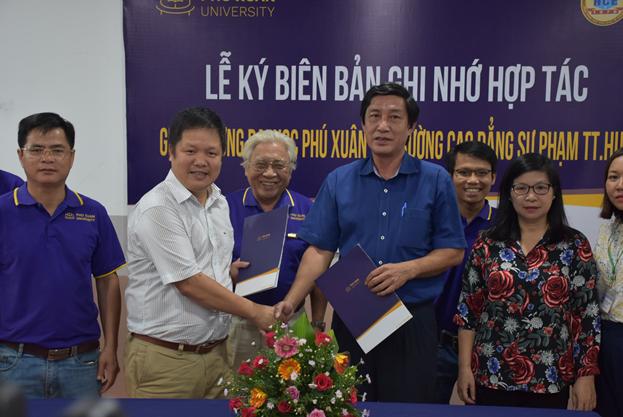 Đại học Phú Xuân đẩy mạnh hợp tác đào tạo với trường Cao Đẳng Sư Phạm Thừa Thiên Huế